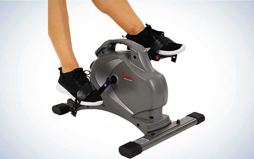 Sunny Health & Fitness Magnetic Mini Exercise Bike is the best small exercise bike for apartments and other small spaces.