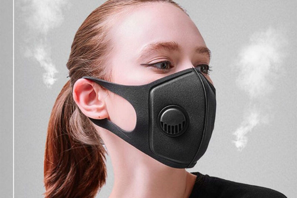 Face Masks with Breathing Valve: 2-Pack