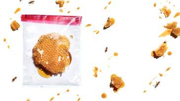 honeycomb in a plastic bag