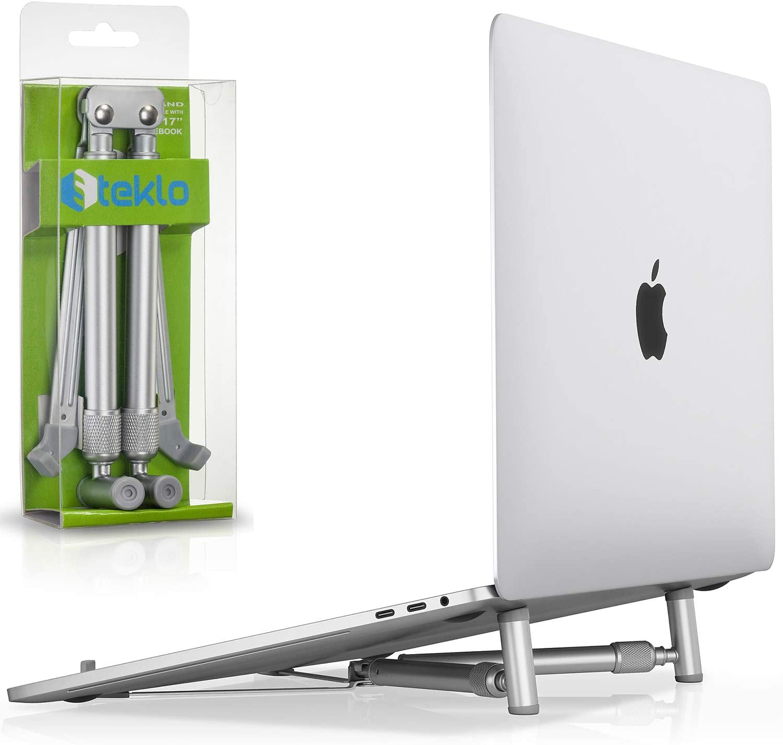Foldable aluminum laptop stand