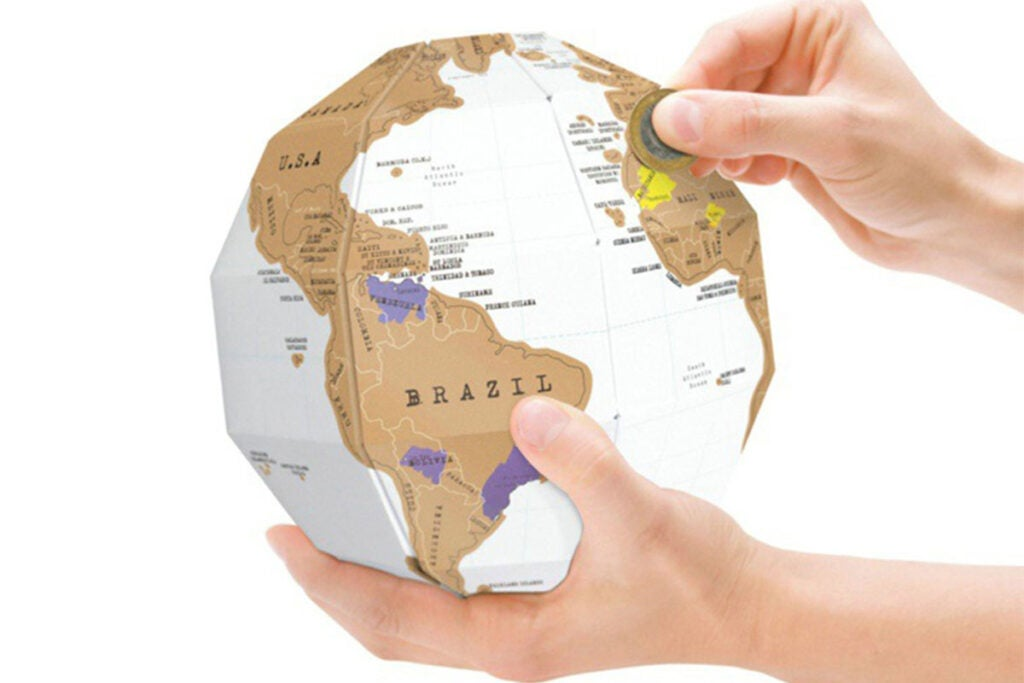 3D DIY World Globe Scratch Map