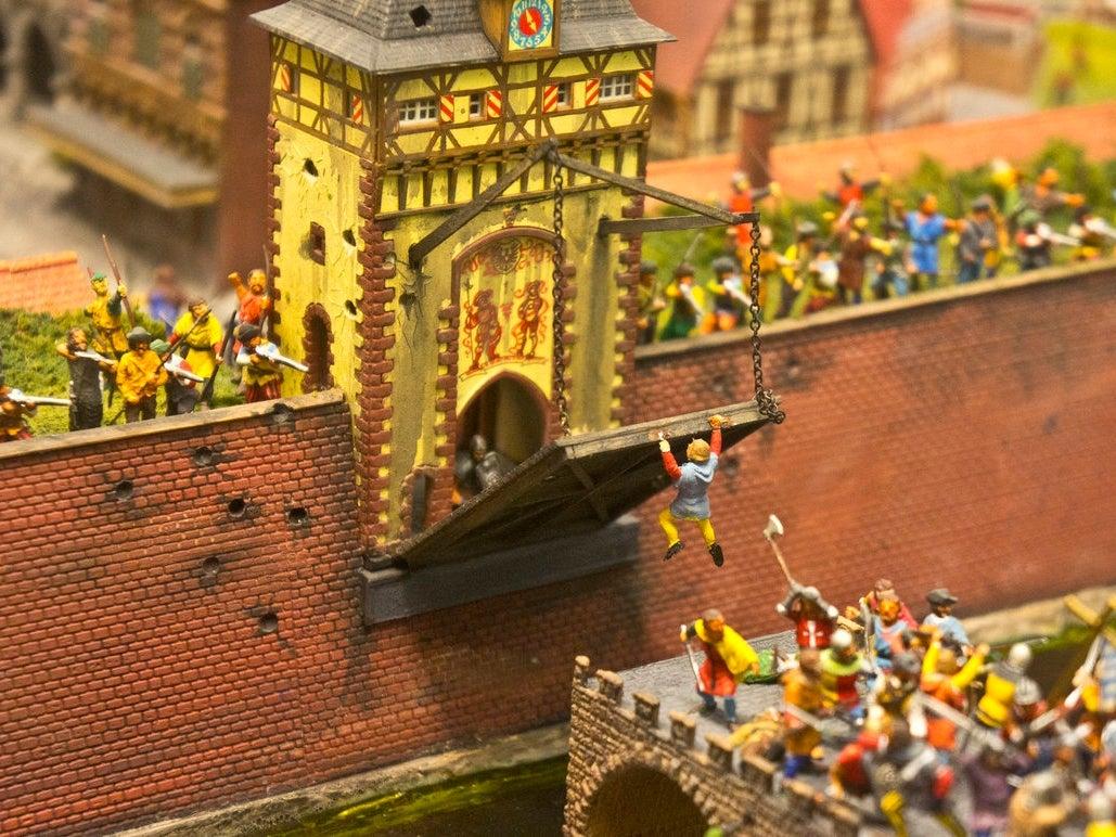 A Camelot scene in miniature.