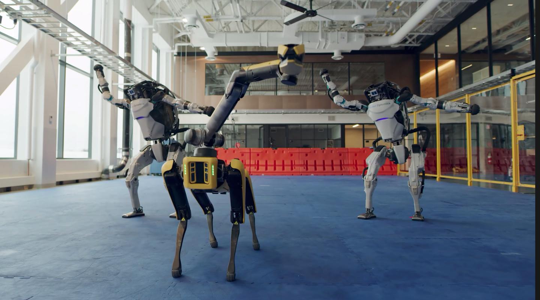Boston Dynamics dancing robots atlas and spot