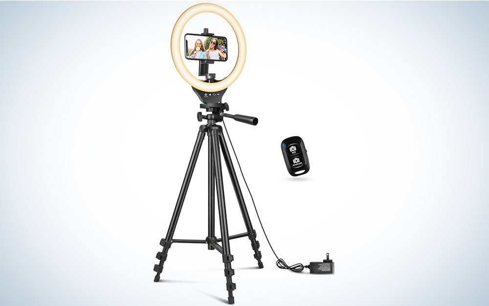 Sensyne 10′' Ring Light with 50′' Extendable Tripod Stand