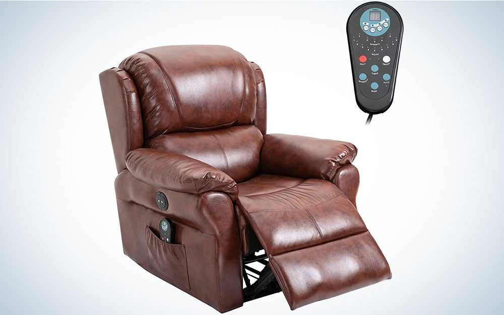 HOMCOM Power Massage Recliner Chair with Heat and Remote Control, 8 Massaging Points