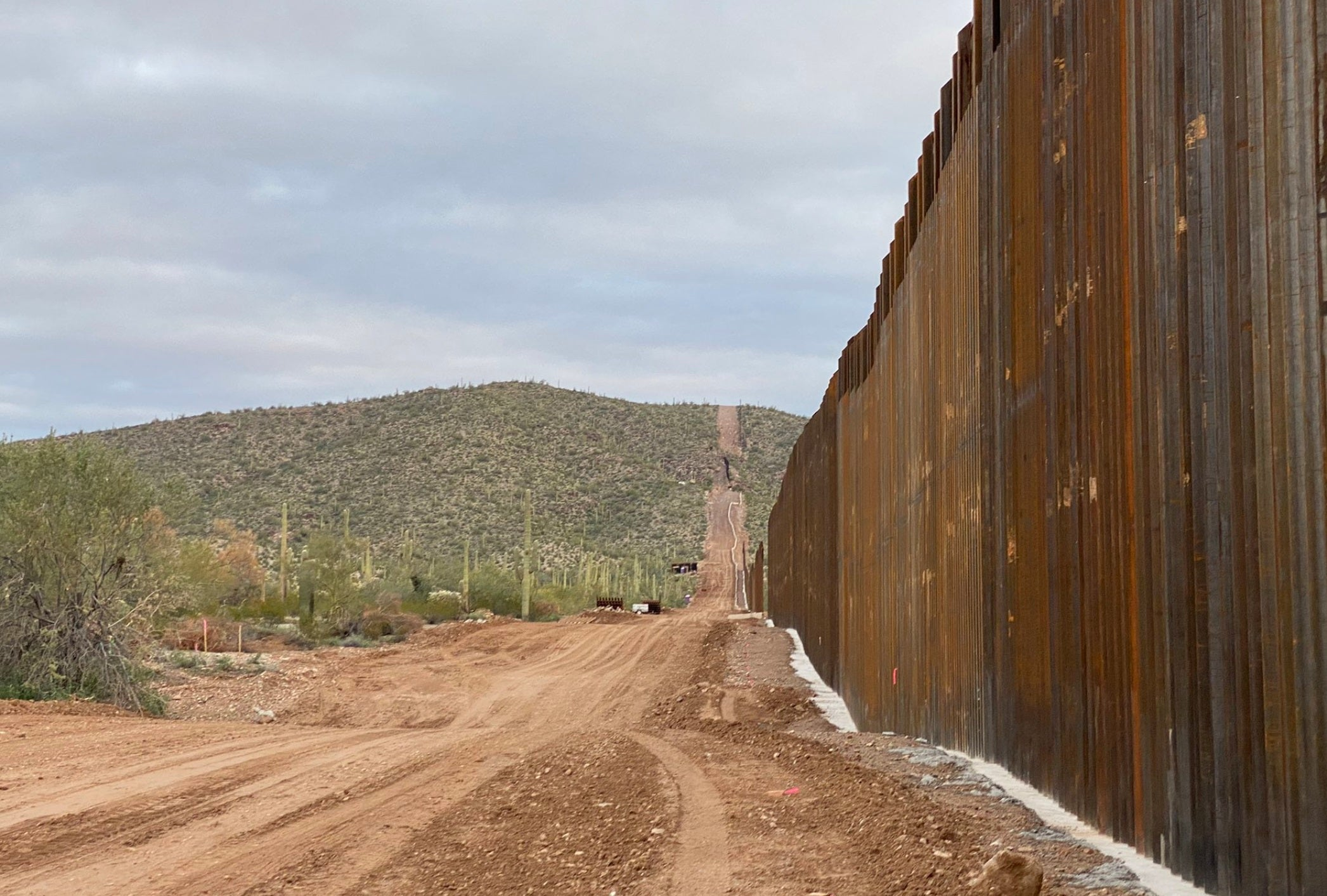 How the Trump border wall sapped a desert oasis dry