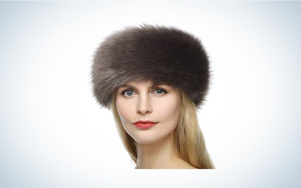 Dikoaina Women's Faux Fur Headband Winter Earwarmer Earmuff Hat Ski