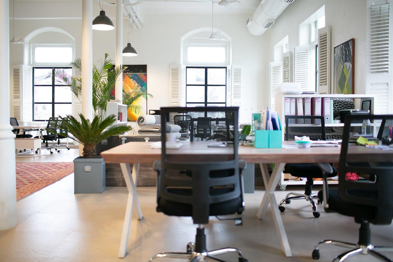 The best office chair in an empty modern office
