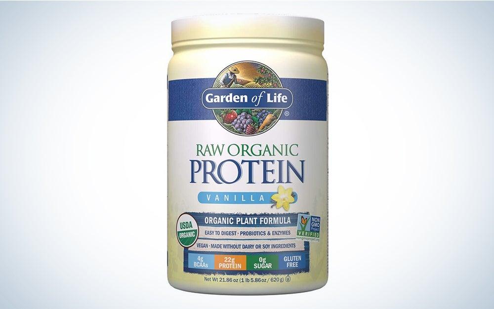 Garden of Life Raw Organic Protein powder with probiotics.