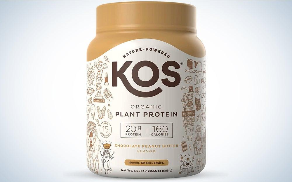 KOS Chocolate Peanut Butter Plant-Based Protein Powder