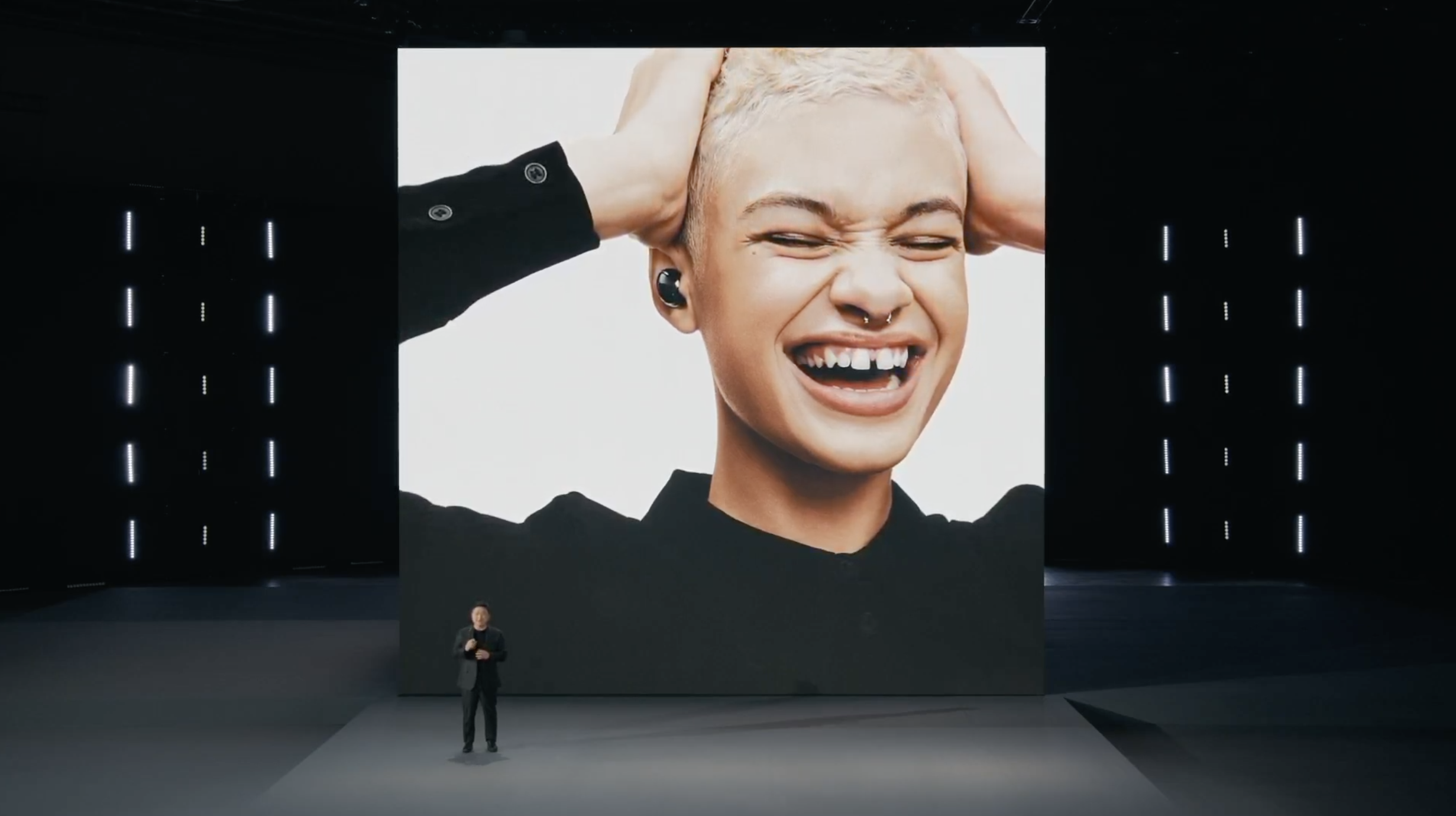 Samsung announcing the Galaxy Buds Pro headphones