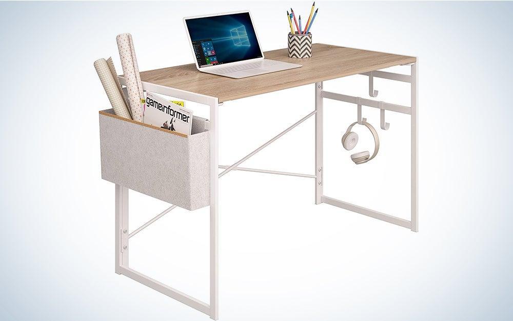 JSB Folding Computer Desk with Storage Bag and Hook