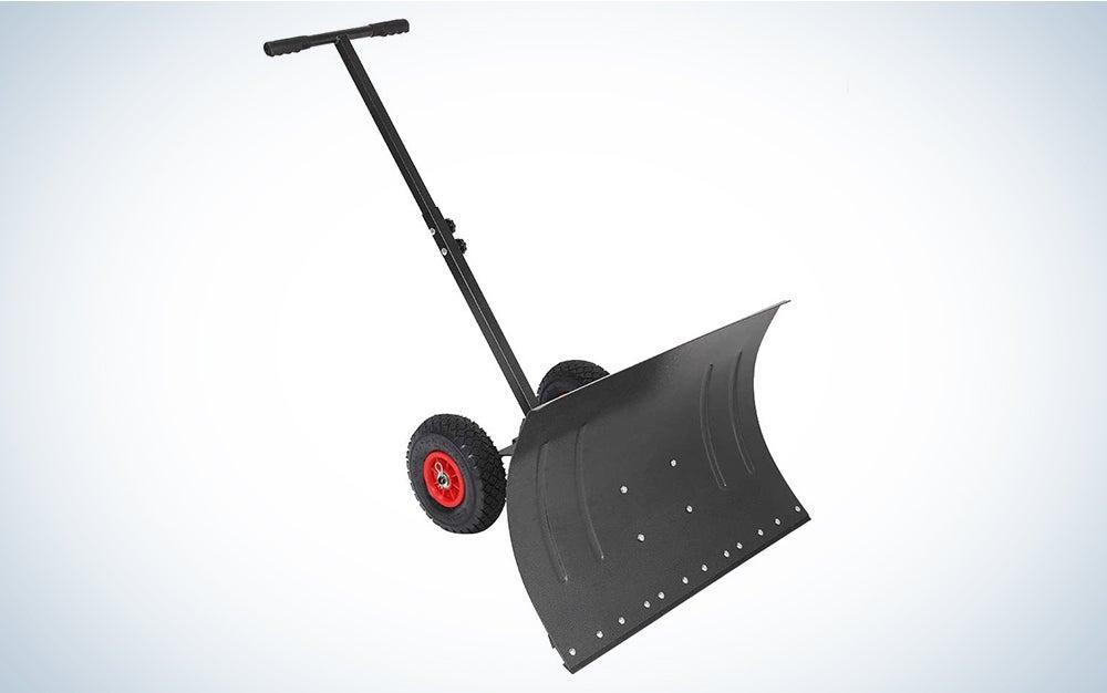 TUFFIOM Wheeled Snow Shovel Pusher
