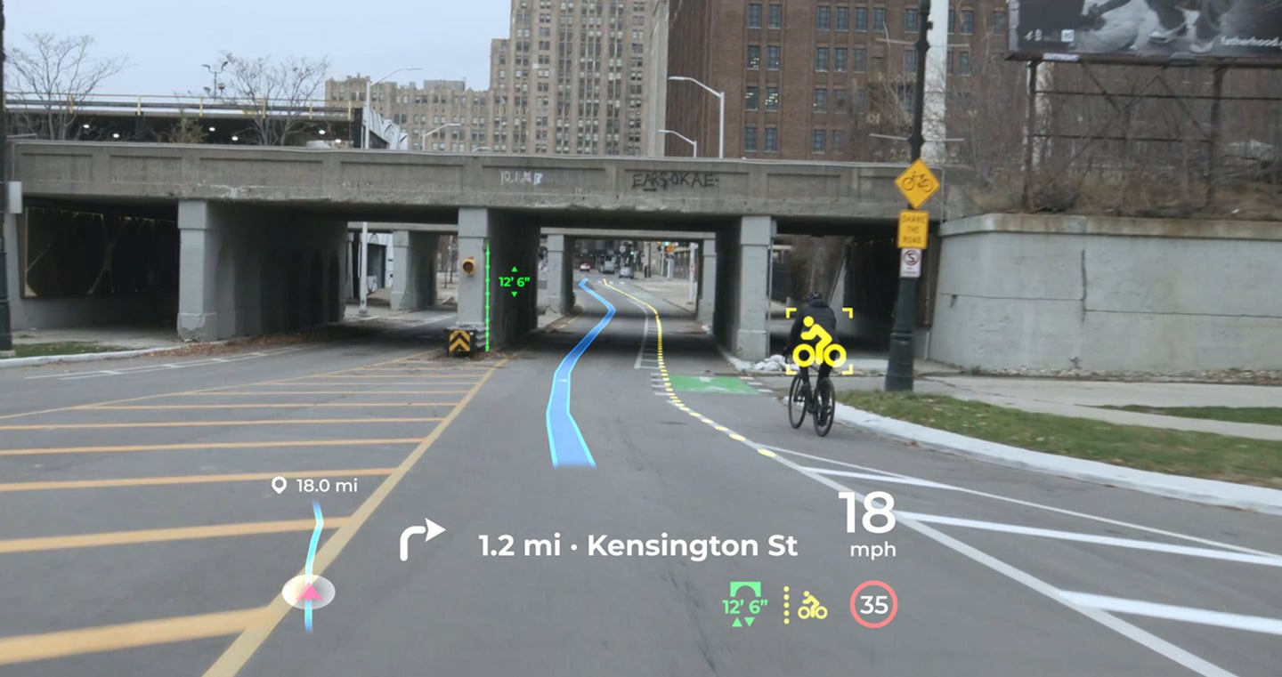 A head-up display from Panasonic.