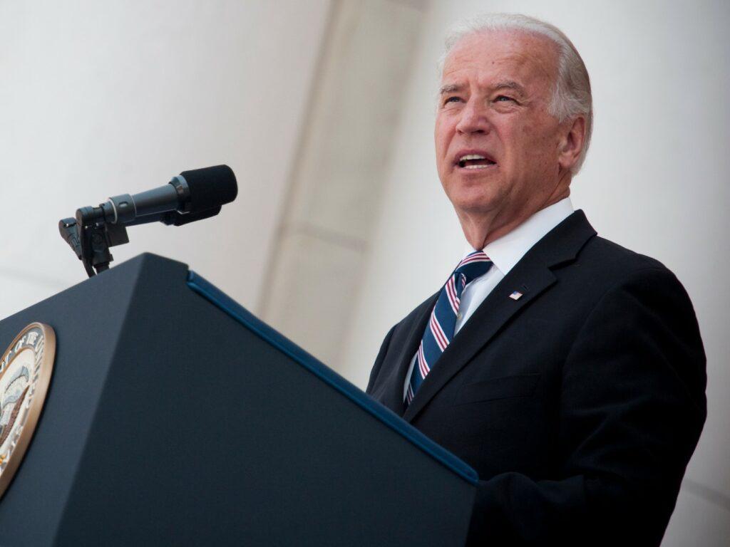 President-elect Joe Biden giving a speech