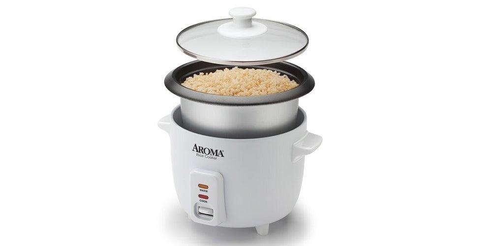 Aroma 6-Cup/1.5-Quart Non-Stick Rice Cooker