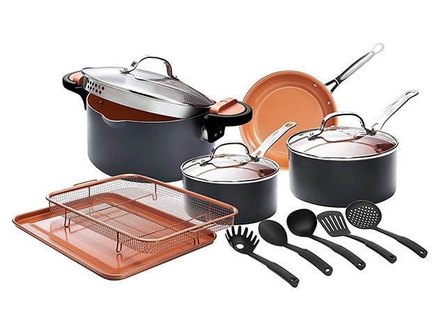 Gotham Steel Cookware Set (13-Piece) and Cookbook