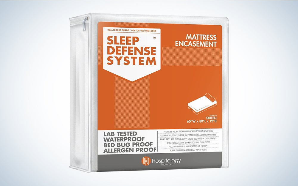 Hospitality Products Sleep Defense System - Zippered Mattress Encasement - Queen - Hypoallergenic - Waterproof - Bed Bug & Dust Mite Proof - Stretchable - Standard 12″ Depth - 60″ W x 80″ L