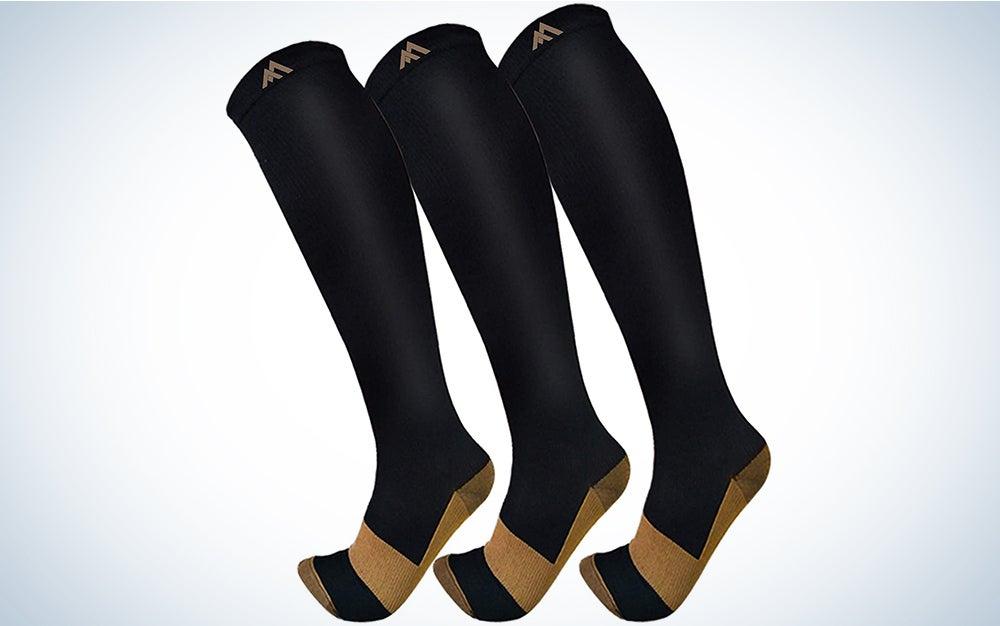 Copper Compression Socks For Men & Women 15-20mmHg-Best For Running,Sports,Hiking,Medical,Circulation