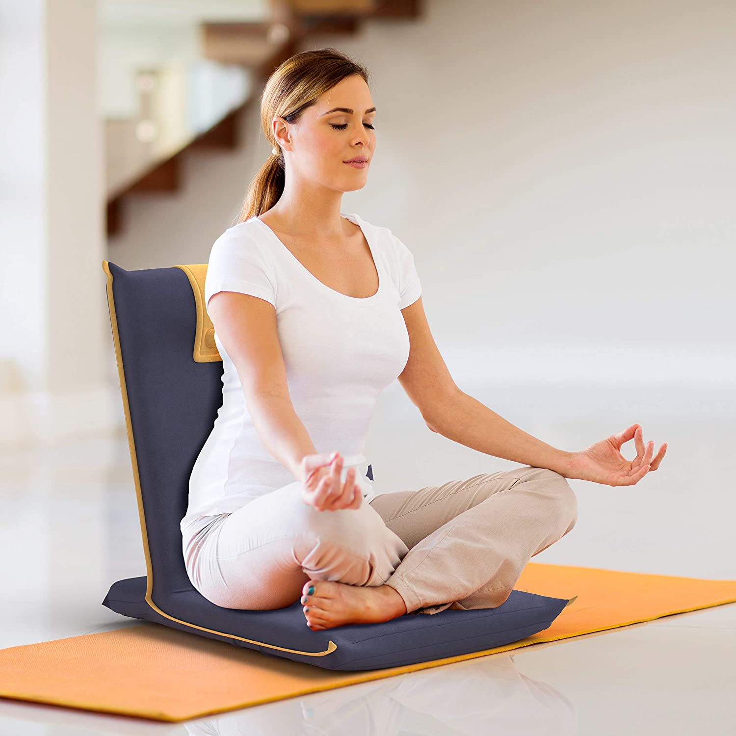 person on a meditation cushion