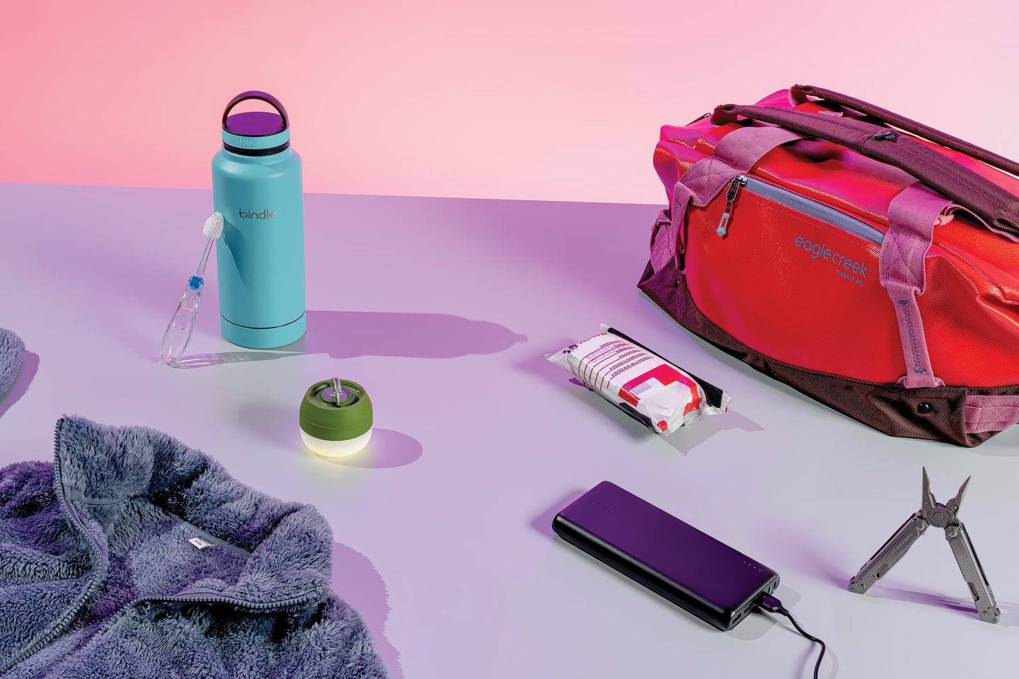 emergency kit items on a table