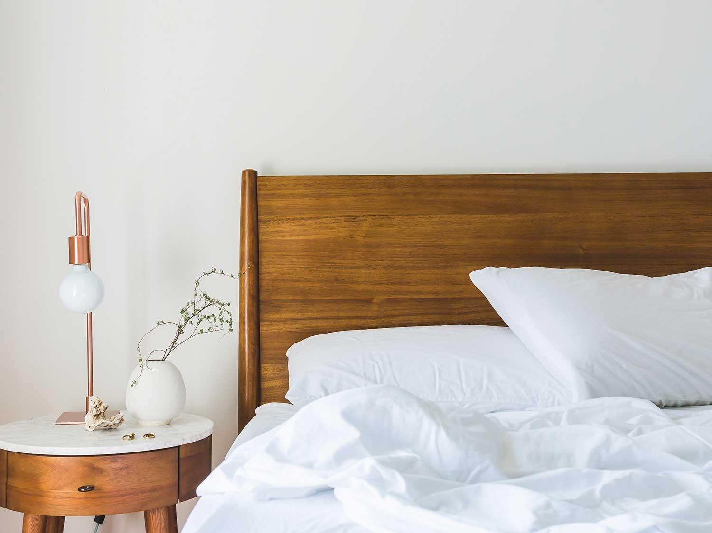 Smart light beside bed