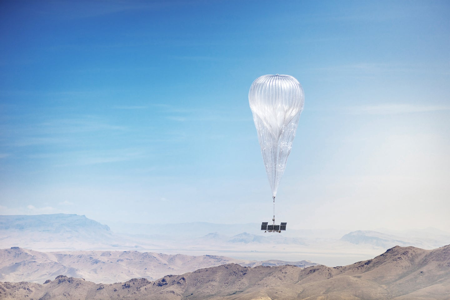 A floating balloon from Project Loon.
