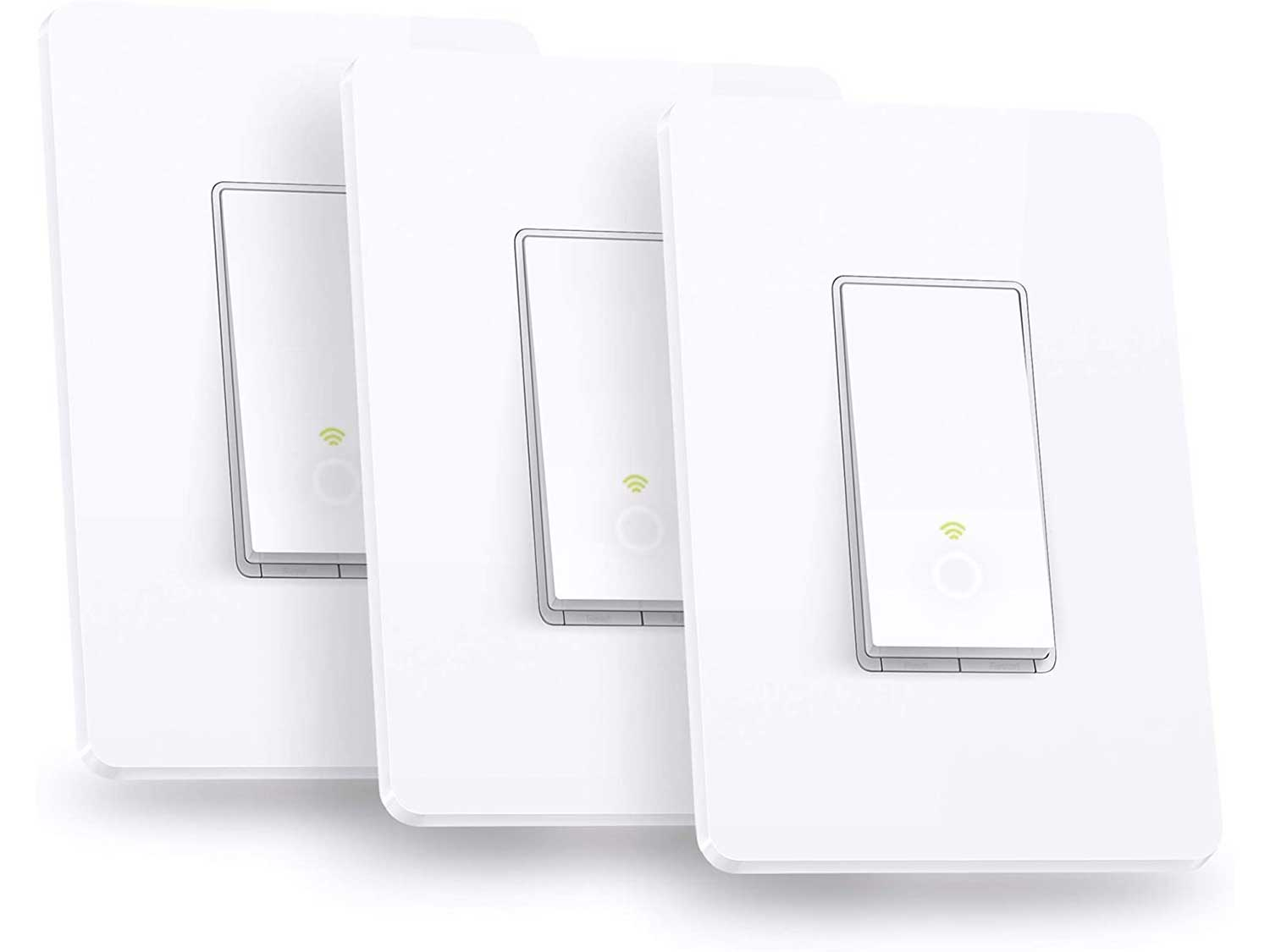 Kasa Smart HS200P3 Wi-Fi Switch by TP-Link (3-Pack) Control Lighting from Anywhere, Easy In-Wall Installation (Single-Pole Only), No Hub Required, Works with Alexa and Google Assistant, Size, White