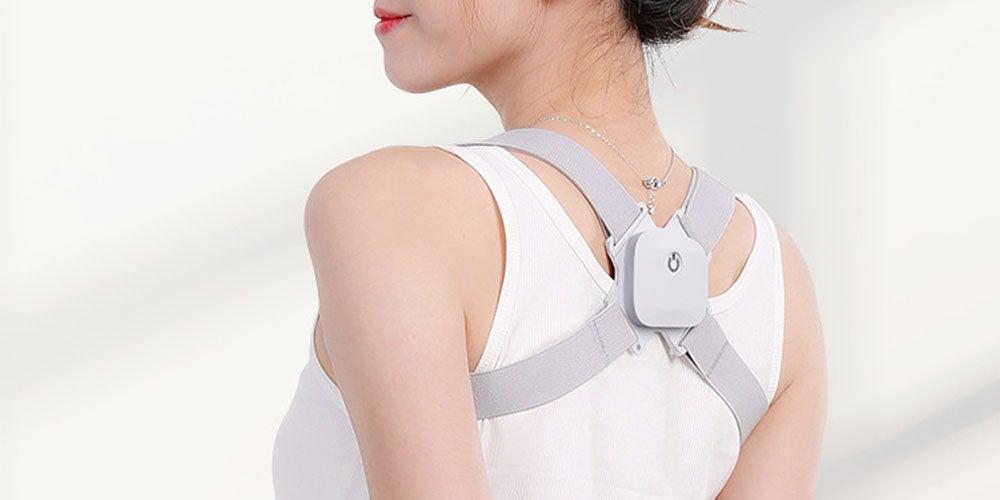 woman with a back brace