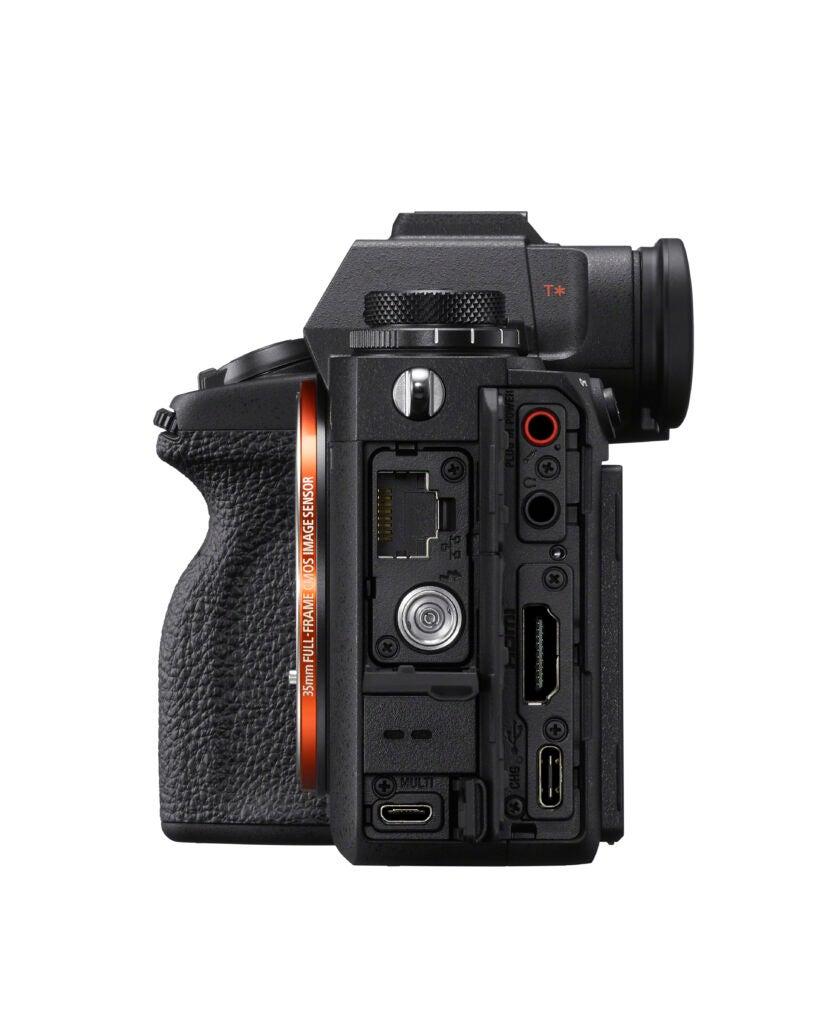 Sony Alpha 1 mirrorless camera ports.