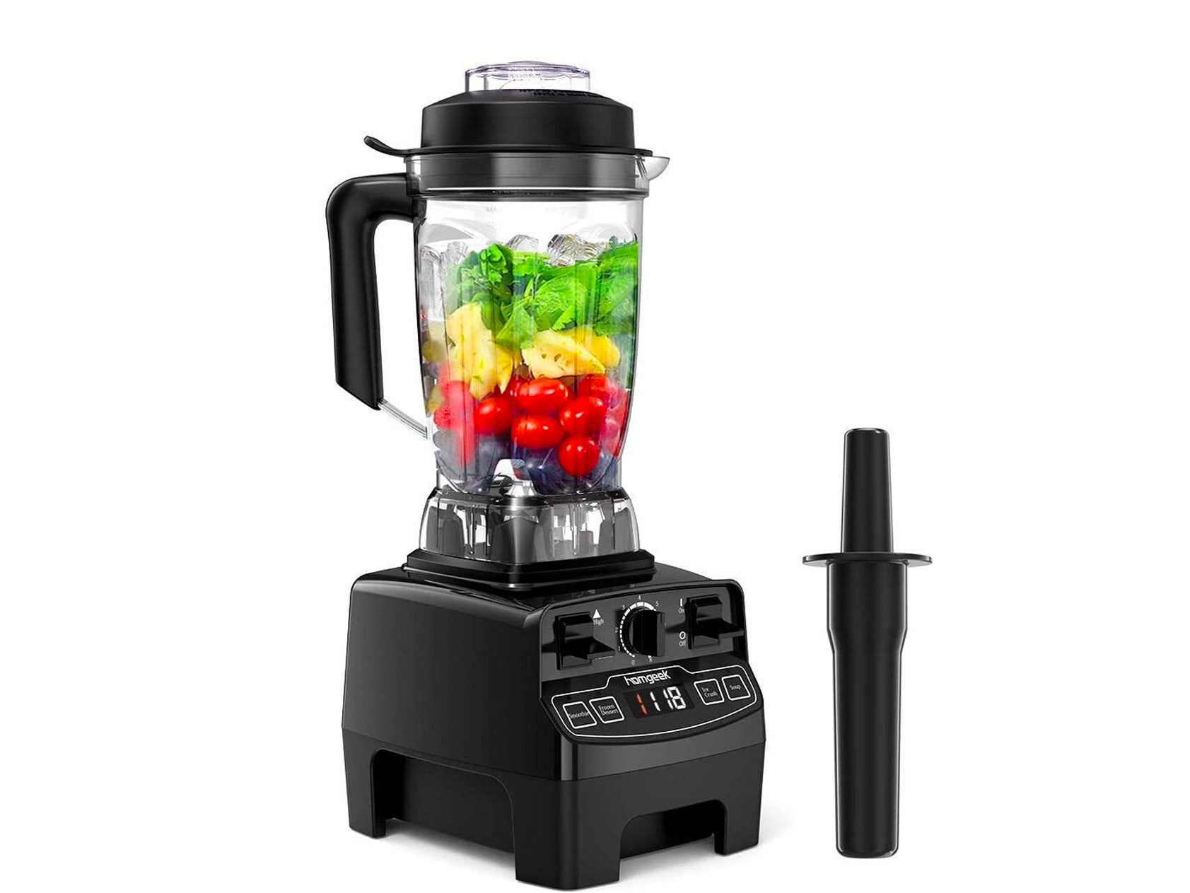 Homgeek Blender Smoothie Maker,2000W 8-Speed Smoothie Blender with 2L BPA-Free Tritan Container,33000 RPM High Speed Professional Blender with 4 Blending Presets for Ice/Soup/Nuts,Black