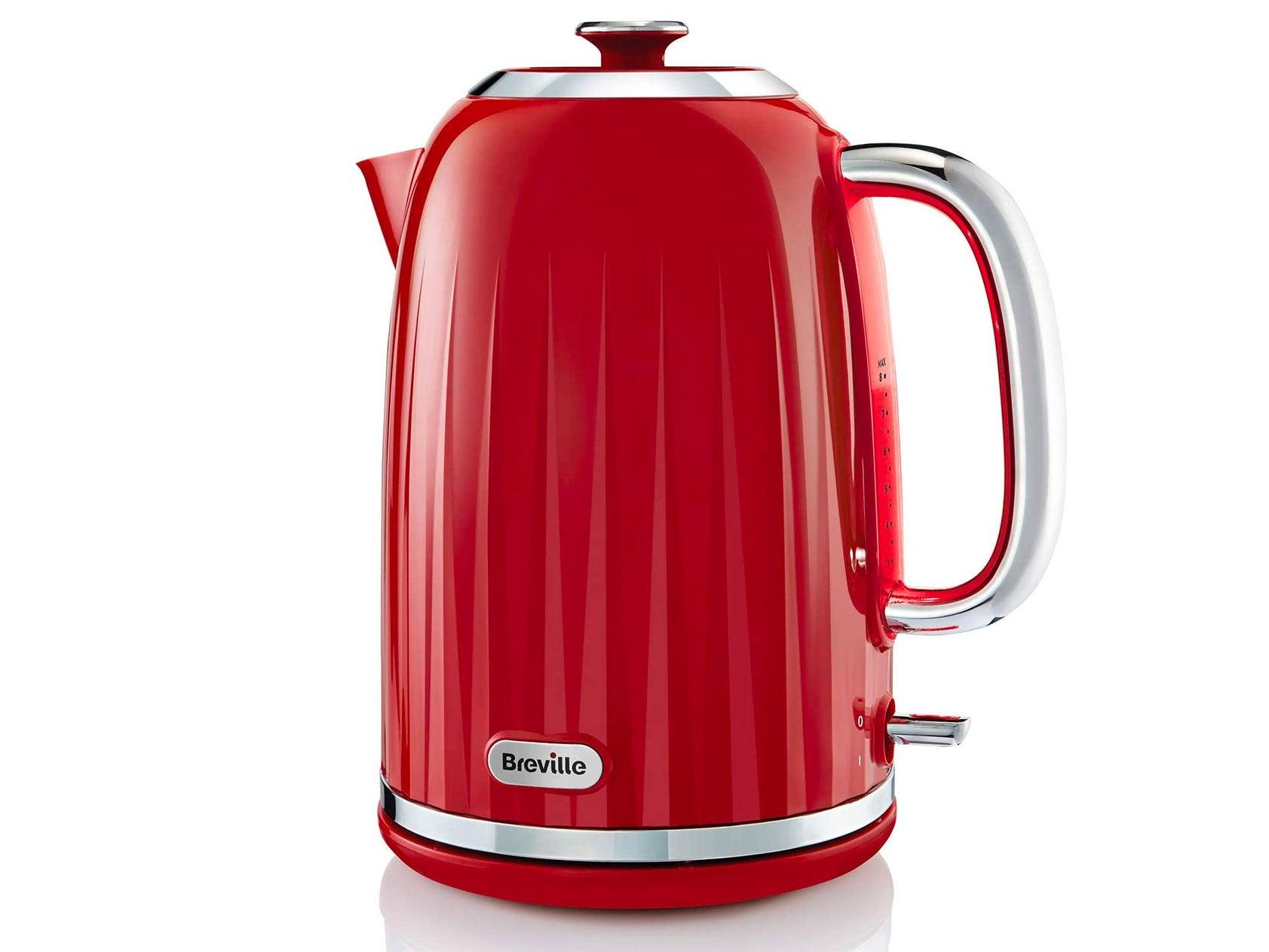 Breville Impressions Electric Kettle, 1.7 Litre, 3 KW Fast Boil, Red