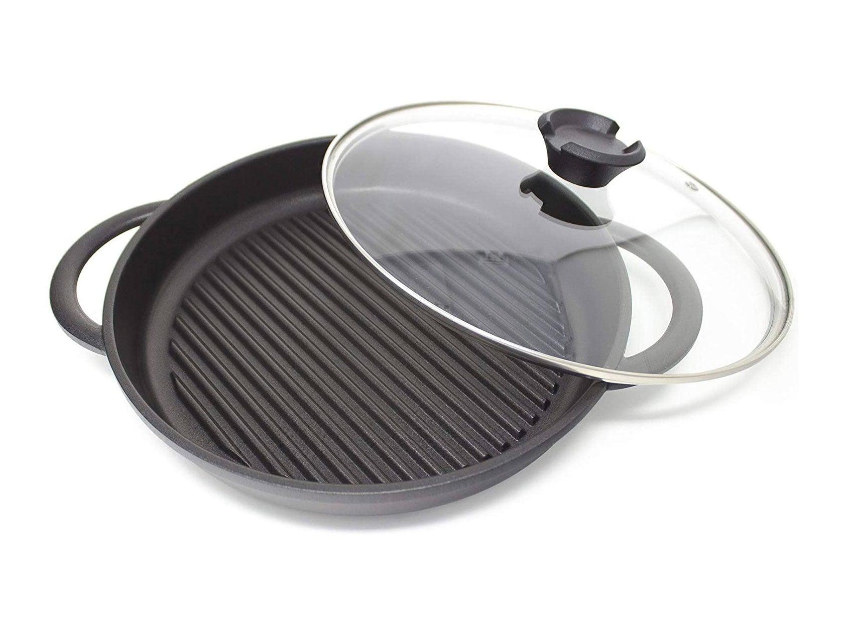 Jean-Patrique The Whatever Pan - Cast Aluminium Griddle Pan with Glass Lid | 10.6