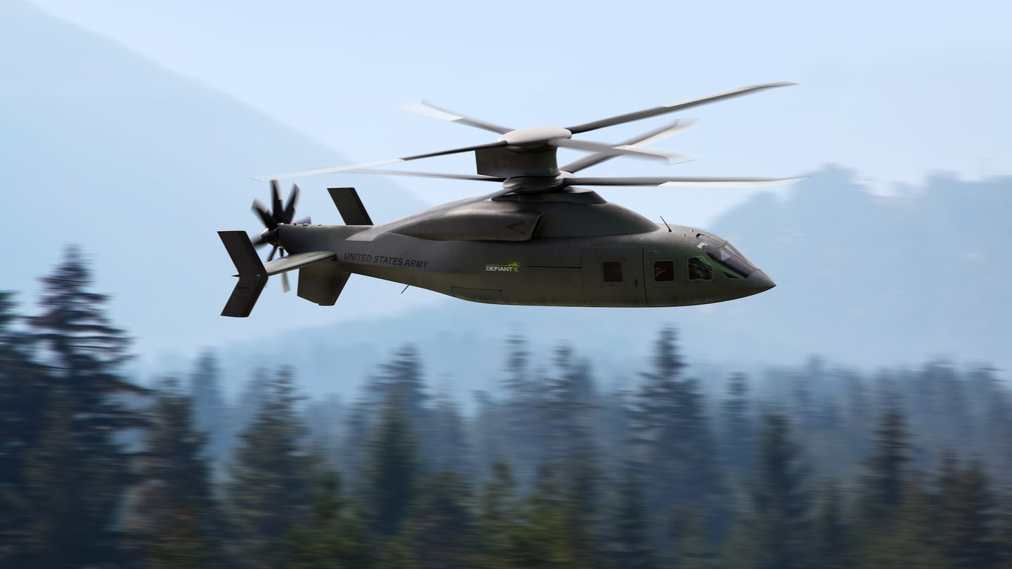 A rendering of the Defiant X helicopter from Sikorsky and Boeing.