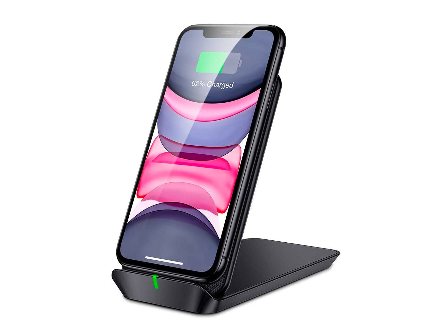 ESR Wireless iPhone Charger Stand - [7.5W/10W] Foldable Shift Fast Wireless Lightning Charging Stand & Pad, Compatible with iPhone 12/12 Mini/12 Pro/12 Pro Max/11/XR/XS/X/8, Galaxy S9/S8 and More