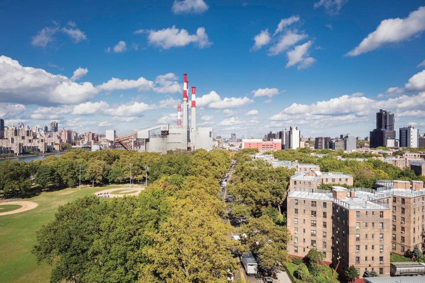 Nation's largest public housing project next to a power plant