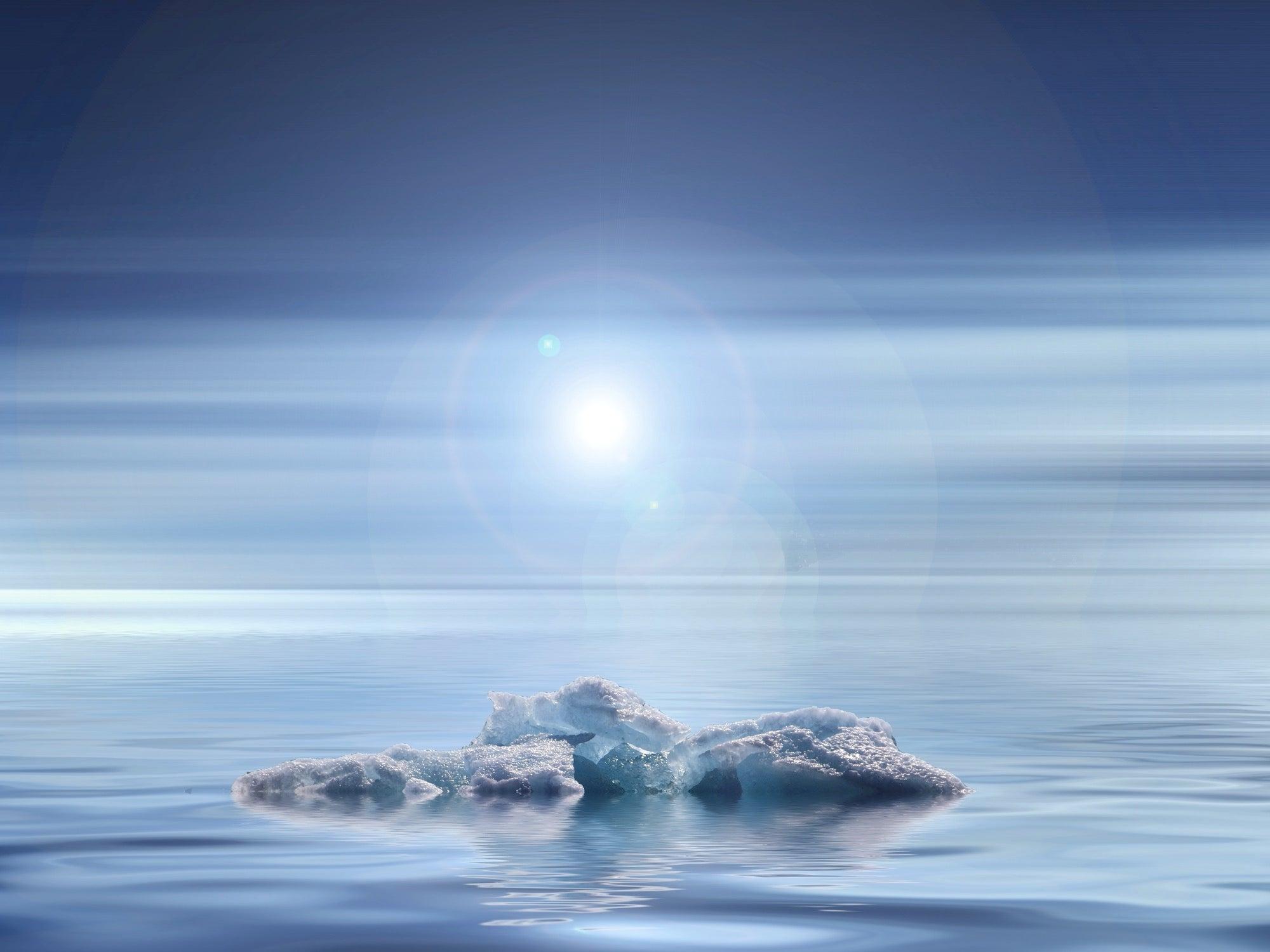 glacier in water