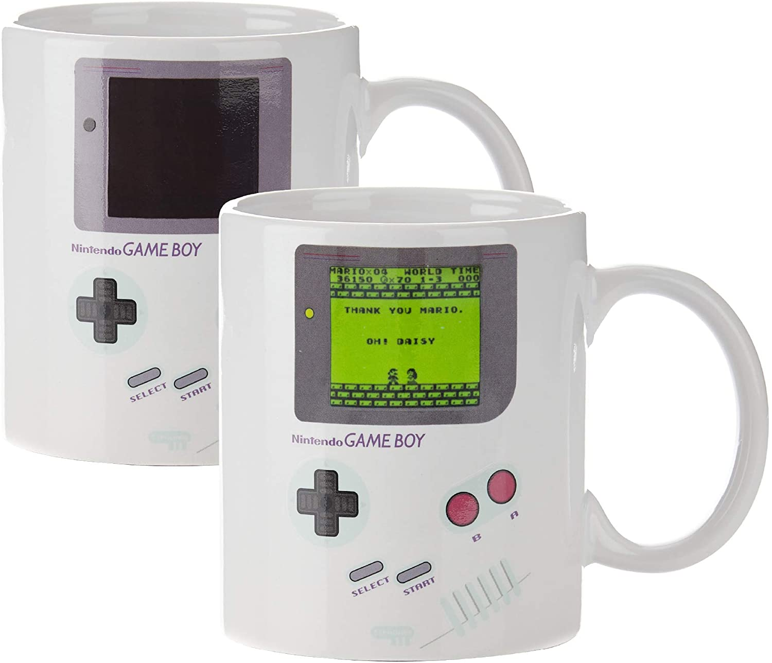One of the best coffee mugs with and without the heat-activated Mario screen