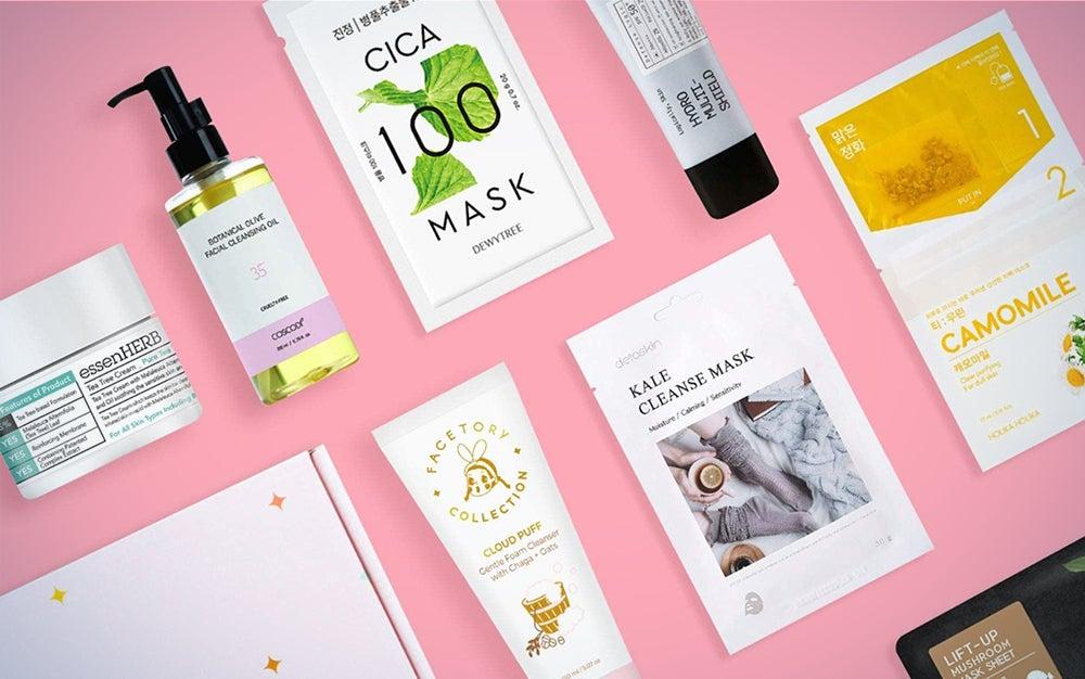 K-beauty skincare subscription box
