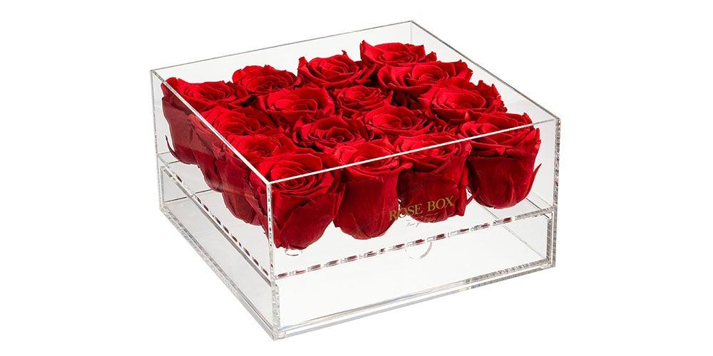 Rose Box Premium Jewelry Box and Everlasting Roses