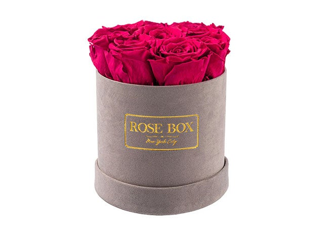 Small Gray Box With Roses