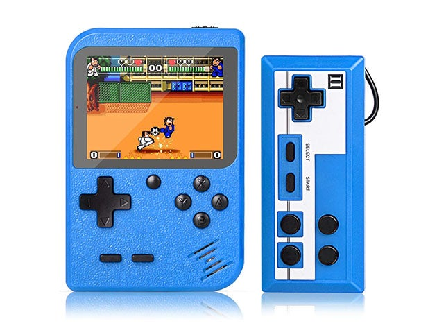 Portable Game Pad With 400 Games and Second Player Controller