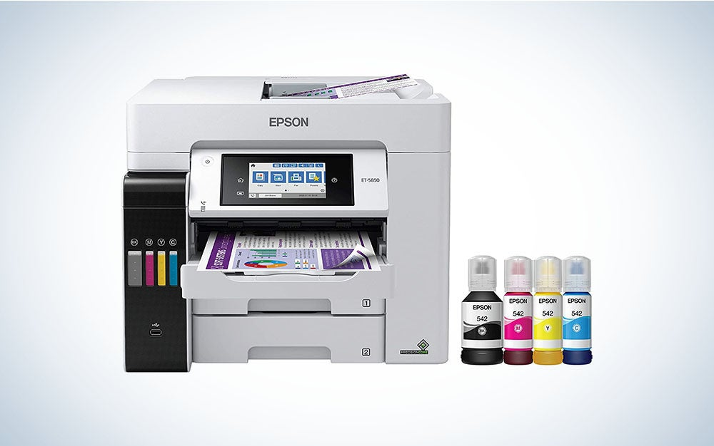 Epson EcoTank Pro ET-5850 is the best all-in-one-printer