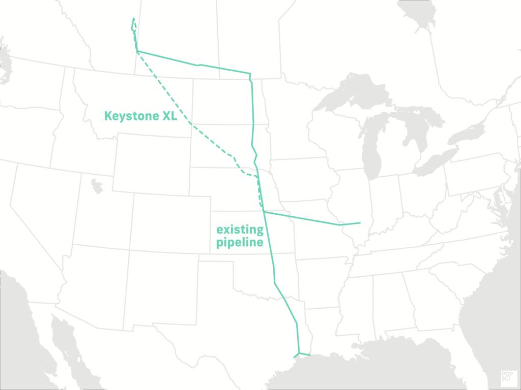 map of keystone XL pipeline