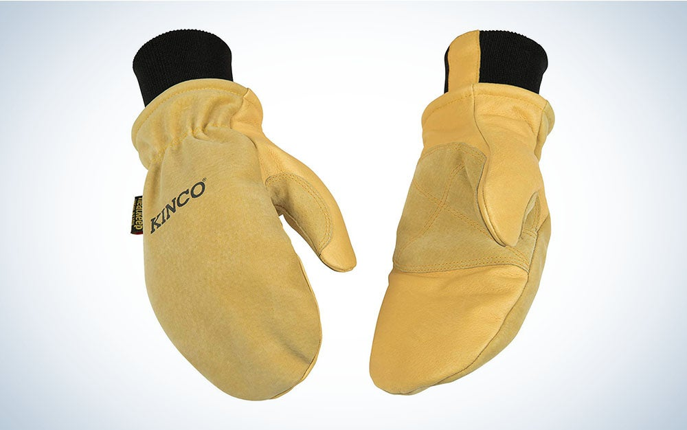 Kinco - Lined Premium Pigskin Leather Work and Ski Mitt with Nikwax Waterproof Wax