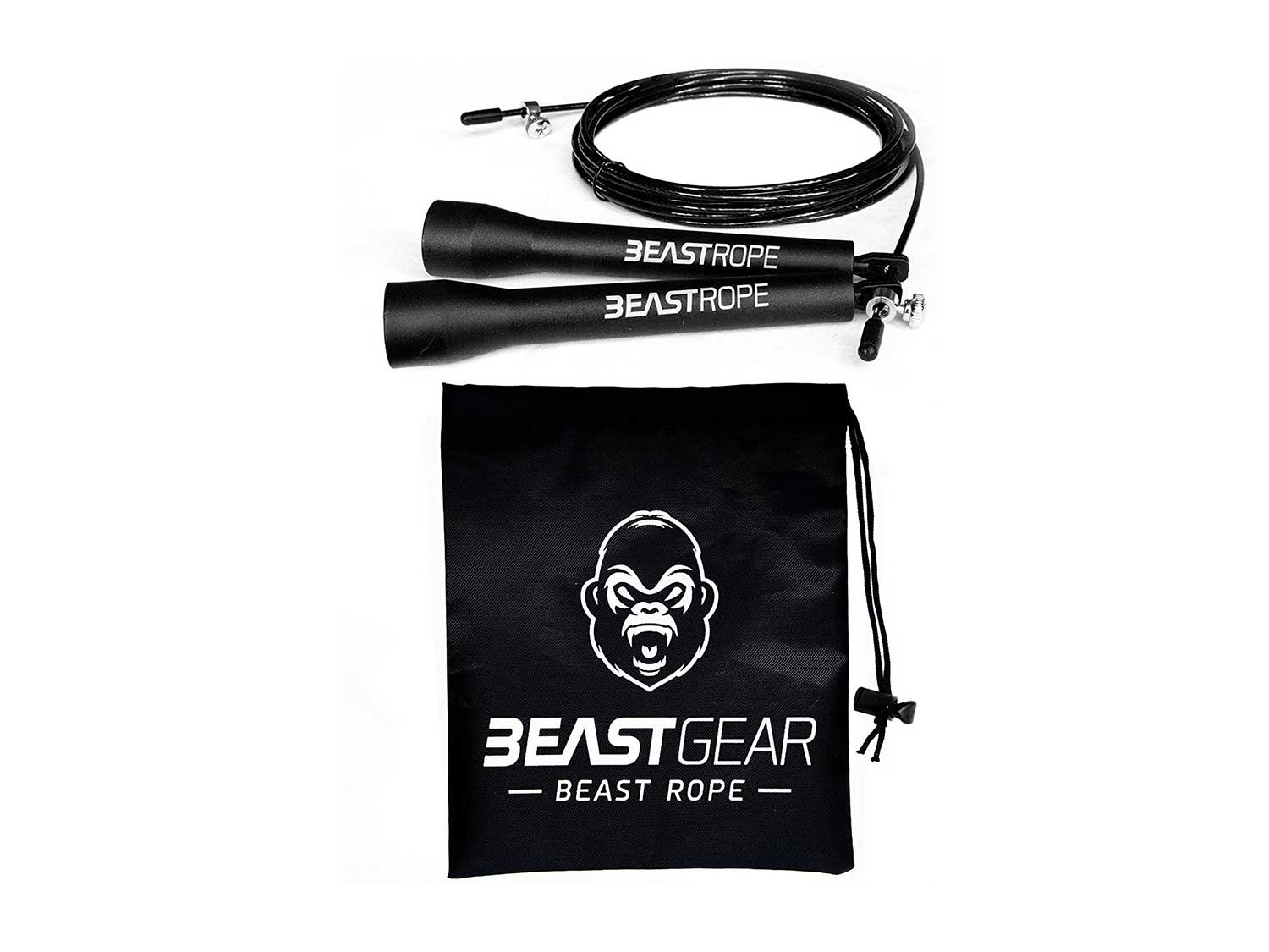 Beast Rope by Beast Gear – Speed Skipping Rope for Fitness, Conditioning & Fat Loss. Ideal for Crossfit, Boxing, MMA, HIIT, Interval Training & Double Unders