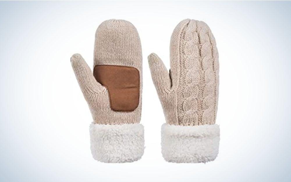Alepo Winter Wool Mitten Gloves For Women