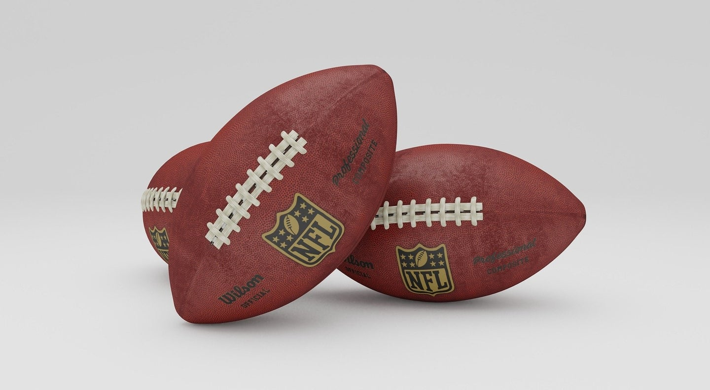 two footballs used in the NFL