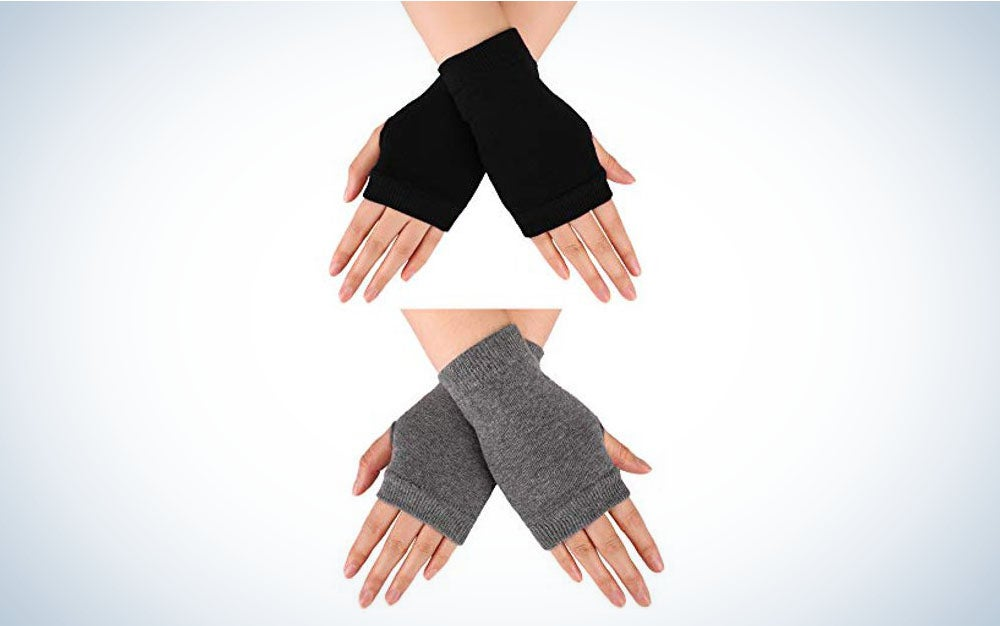 Blulu Fingerless Warm Gloves with Thumb Hole