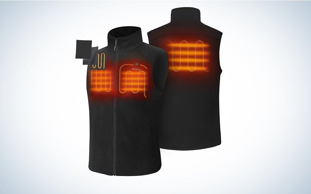 ORORO Men's Fleece Heated Vest